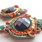 CAROUSEL soutache earrings in purp..